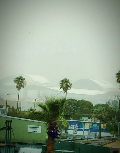 Through the haze. Baseball Haboob Arizona