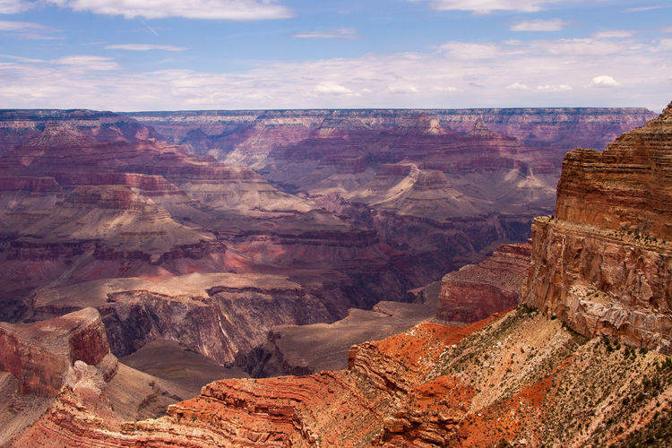 Beautiful view of the Grand Canyon from the south rim Copy Space EyeEmNewHere Grand Canyon Arid Climate Beauty In Nature Canyon Cloud - Sky Environment Eroded Formation Geology Landscape Mountain Nature No People Non-urban Scene Outdoors Physical Geography Rock Rock - Object Rock Formation Scenics - Nature Sky Solid Tourism Tranquil Scene Travel Travel Destinations Wallpaper