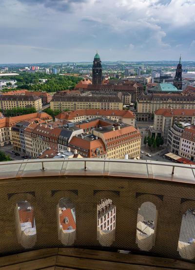Dresden as seen from frauenkirche vantage platform