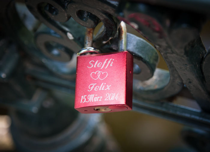 Love Choice Close-up Communication Depth Of Field Door Hanging Ideas Lock Love Lovely Metal Metallic No People Old Old-fashioned Padlock Rusty Security Selective Focus Text Variation Wood