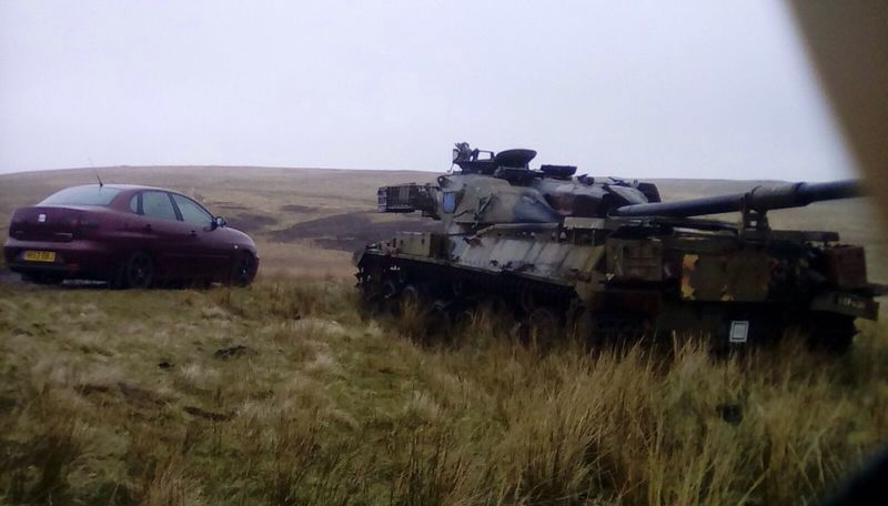 A couple of weapons on otterburn ranges. Seat Cordoba 6l Weaponsofwar Weapons Otterburn Ranges Chieftain Chieftain Tank Northumberland National Park