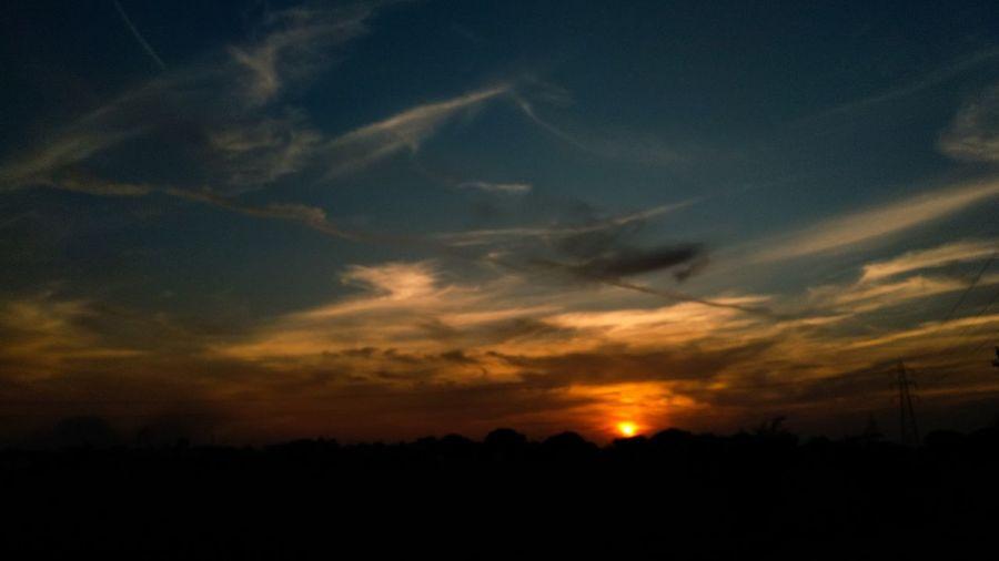EyeEm Selects Sunset Silhouette Dramatic Sky Sky Cloud - Sky Moody Sky Shining
