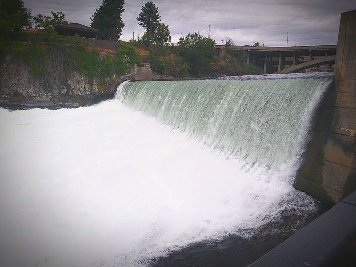 Downtown Spokane Spokane River Waterfall Riverfront Park Water The Great Outdoors - 2018 EyeEm Awards
