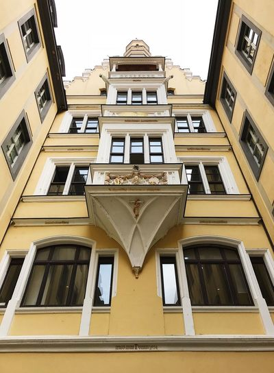 Love this angle ☺️ House Leipzig Architecture Built Structure Building Exterior Building Low Angle View Window No People City Symmetry Tall - High Pattern