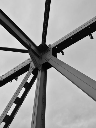 steel knot #knot #steel Bridge - Man Made Structure Sky Low Angle View Girder Built Structure Day Steel EyeEmNewHere