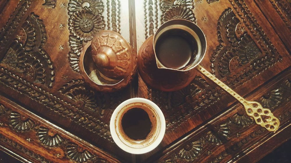Bosnian  Traditional Coffee High Angle View Indoors  Food And Drink No People Refreshment Drink Freshness Close-up Home Edition