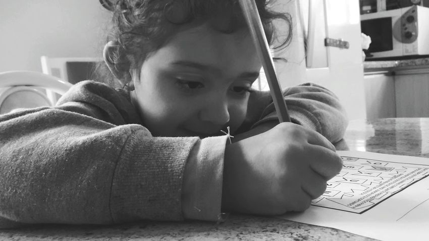 Girl School Task Infancy