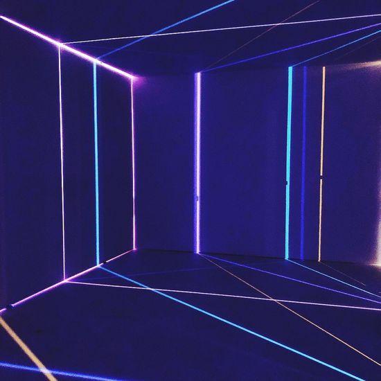 beaming Blue Sport Lighting Equipment No People Illuminated Indoors  Purple