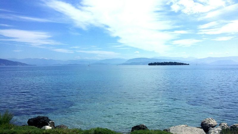 Blue Wave Corfu CORFU ISLAND Corfugreece Blue Sky Blue Sea Throughmyeyes Eyeemblue Scenery Shots Eye Em Best Shots