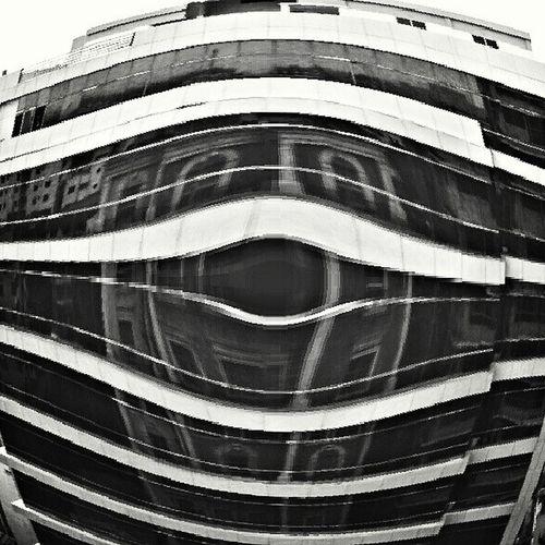 Jj_forum_0595 Urban Structure Building Reflection Horror Bnw Black White Dhaka Bangladesh Kazi Tahsin Agaz Instagramers Instamood Instahub Instadaily Instagood Lines Distortion Fisheye