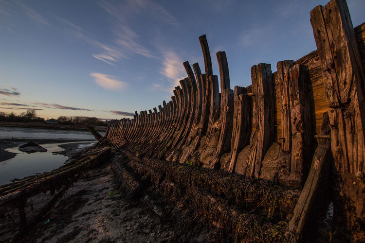 Shipwreck on beach