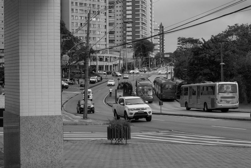 present in past 2016 Architecture Black & White City City Life City Street Curitiba, Brazil Day Land Vehicle Outdoors Street Transportation Urban Road