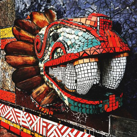 Quetzalcóatl la serpiente emplumada Mexico MexicanCulture Quetzalcoatl Multi Colored Close-up