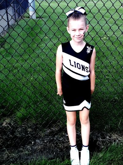 My Little Girl❤️❤️❤️ Cheerleading Cheerleader Football Game :) Newaygo Lions So Cute ❤ Growing Up Too Fast  Very Proud My Love