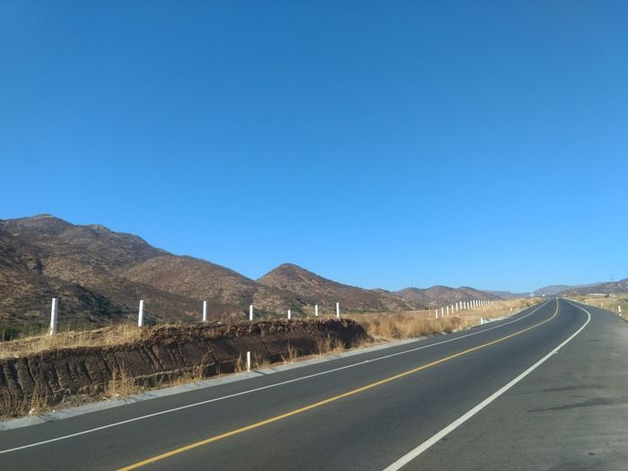 Mountain Clear Sky Road Blue Sky Landscape Country Road Mountain Road Asphalt Empty Road