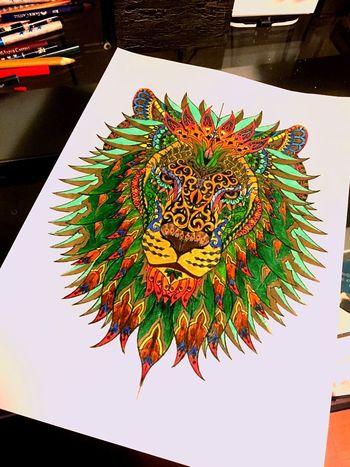 Lion King Of The Jungle Strong Mandala Art Colors Of Life