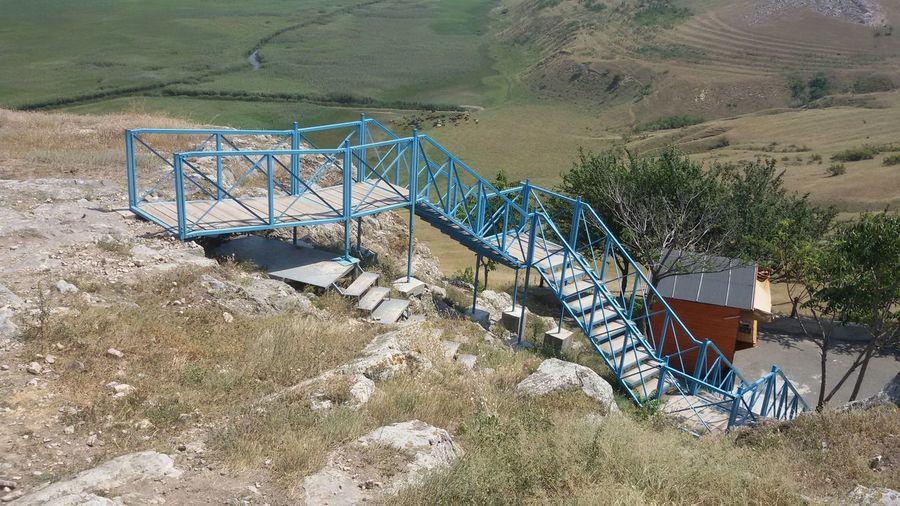 Archaeology Architecture Construction Footbridge Romania Abstract Geometric Shape Heat