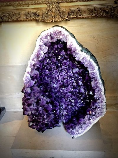 Purple Vibrant Color Fragility Lavender Colored Amethyst Geode Crystal Mineral