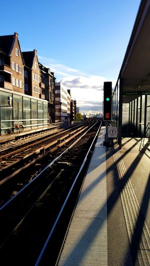 Railroad Track Shadow Train - Vehicle Public Transportation Business Finance And Industry First Eyeem Photo