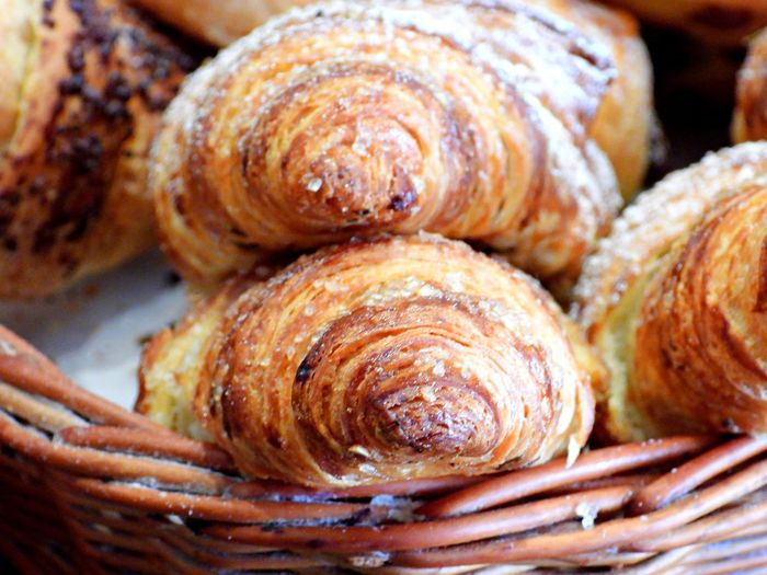Food And Drink Baked Food Freshness No People Basket French Food Close-up Still Life Indoors  Croissant Brown Sweet Food Ready-to-eat Baked Pastry Item