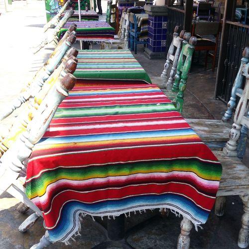 Mexico Tijuana Restaurant Folklore Sfeer Colors Colorfull Tablecloth