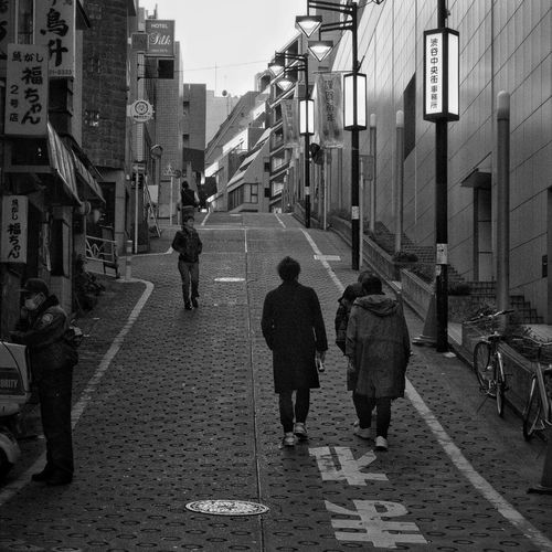 Walking Street Men City People Slope Sloping Road Twilight Snapshot City Life On The Road CityWalk B&w Street Photography Streetphotography_bw Shibuya 渋谷 Tokyo Japan
