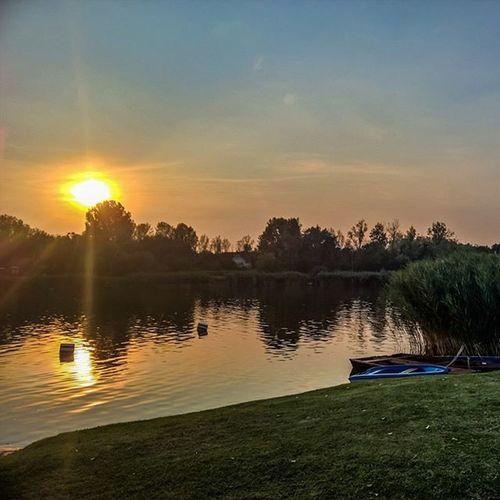 Tonight's sunset at Lake Szelid Rsa_sky WeLoveLumia Instagrammers Mik WindowsPhonePhotography Ig_hun Lumia930 Lumia Sunset_stream Hdr_lovers Allumians Sunsetmadness Sunset Viewmysunset
