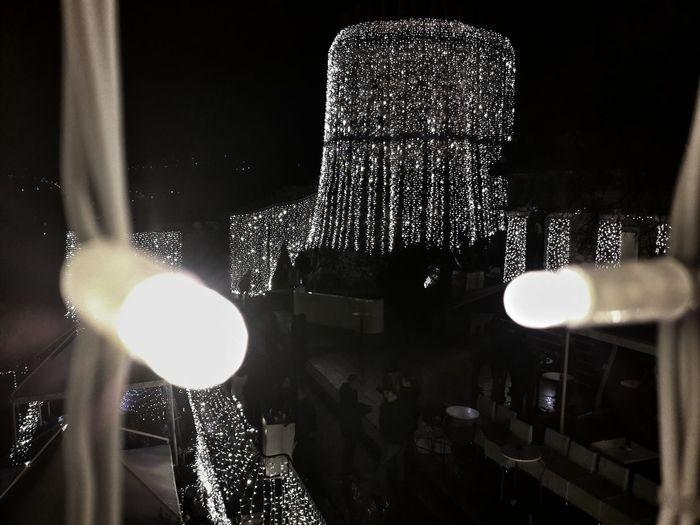 Outdoor Photography Outdoors #ChristmasLights Light Tower Ambiance Architecture Croatia Rijeka City Rijeka Trsat #Night Rijeka At Night