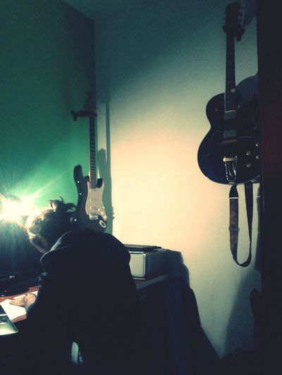 my lover working <3 Drawing Guitar Light And Shadow Raiquenic