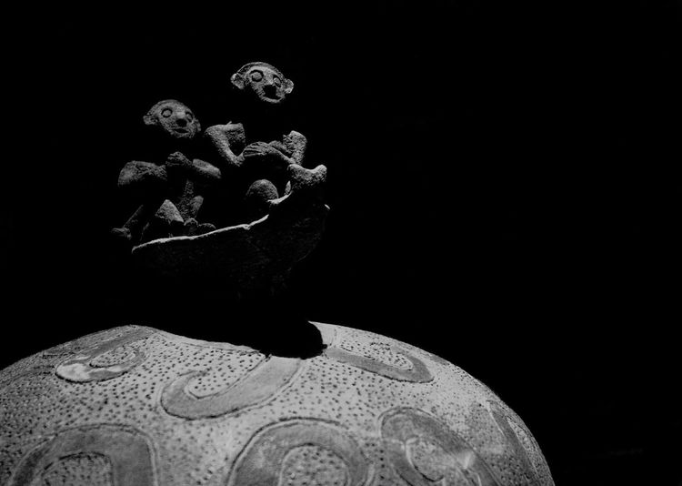 manunggul jar - the journey to afterlife Studio Shot Black Background Man Made Object Creativity No People NationalMuseumOfThePhilippines Palawan Burialjars Manunggul