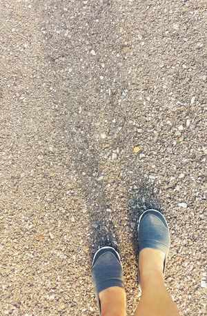 Keep walking, running with big leg Walking Running Big Legs. Shoes Journey Rock Floor Rock Ground Healthy Loseweight Shadows & Lights Be. Ready.