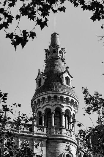 Low angle view of ornate building against sky