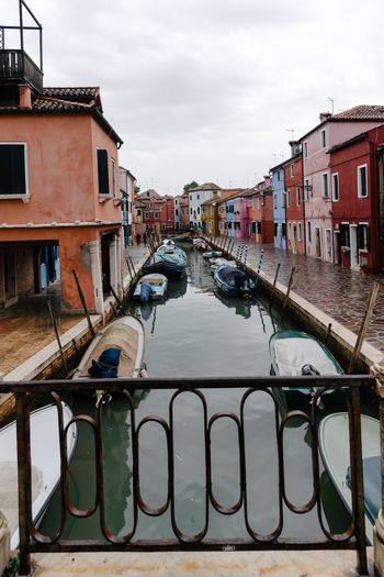 Venice Venice, Italy Built Structure Architecture Building Exterior Water Sky Cloud - Sky Canal Nature City Residential District No People Transportation Building Animal Animal Themes Day Railing Nautical Vessel Mode Of Transportation Outdoors