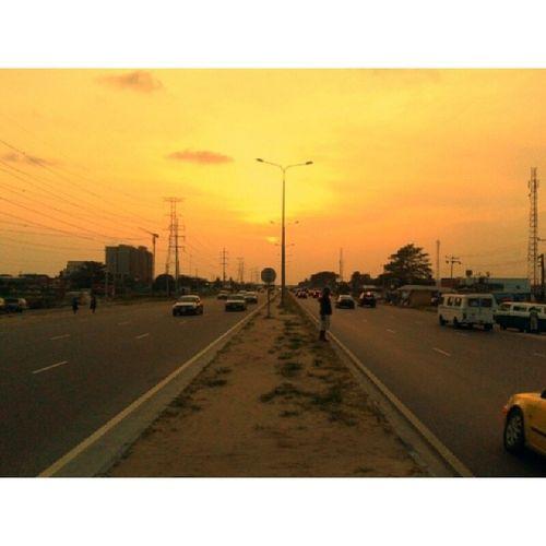Orange Day. Nofilter PhonePhotography Landscape SamsungDuos Lagos Nigeria Ikota Lekki InstaLagos iamEdAce