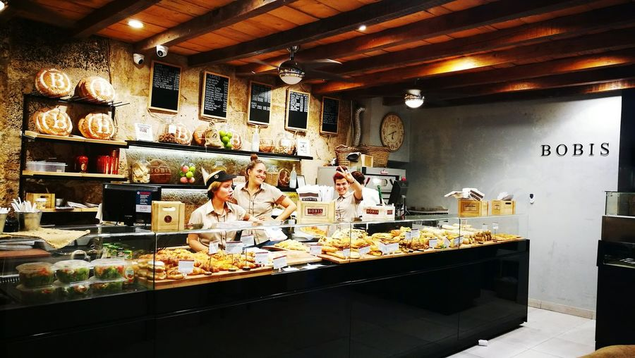 Indoors  People And Places Bakery Breads Pastery Split Croatia Bobis Bakery Cafe BAKERY タツヤ Bakerylife