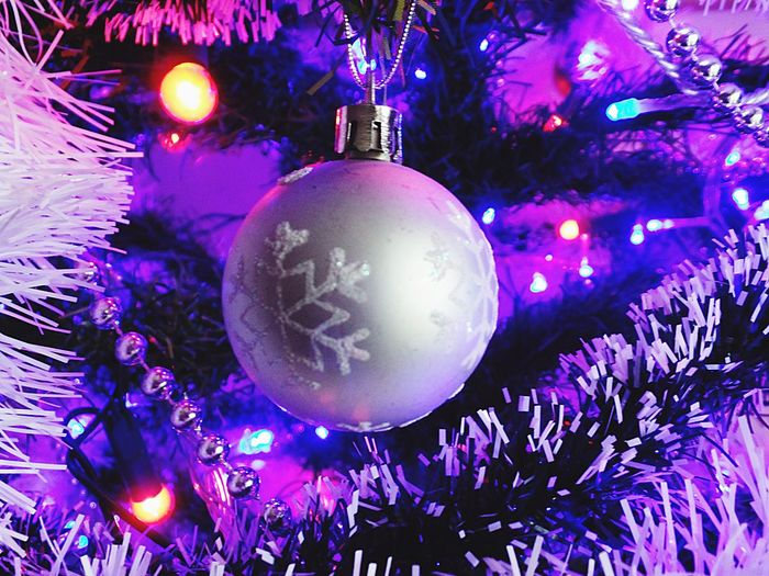 Photography Christmas Christmas Decoration Celebration Christmas Tree Christmas Ornament Hanging Bauble Tradition Christmas Lights Illuminated Indoors  Celebration Event Close-up Tinsel