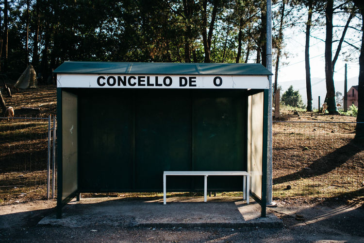 concello de o Architecture Bonjour Tristesse Bus Stop Day Hikinggalicia Outdoors Text Tree Neighborhood Map