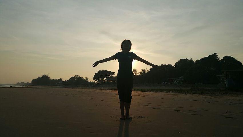 Shadow Sunset That's Me Enjoying Life Happiness Good Times