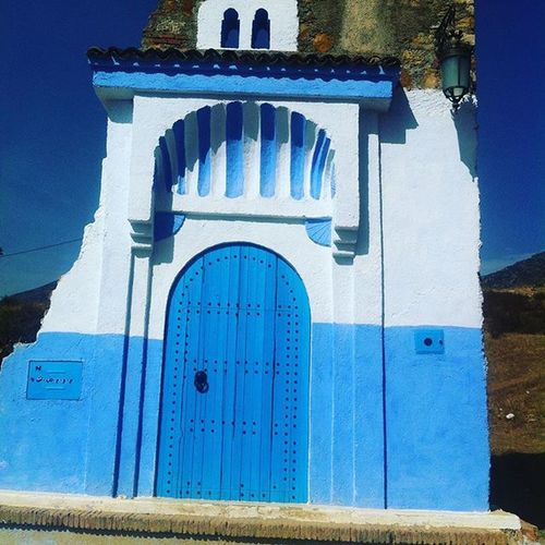 Chaouen Chefchaouen شفشاون Blue Bleu Traditional Blueandwhite Entrancewall Moroccan The Architect - 2016 EyeEm Awards