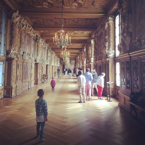 Castle Château De Fontainebleau Family France French Castle French Countryside Architecture Building Built Structure Ceiling Child Château Flooring Indoors  People Real People Royalty Tourism