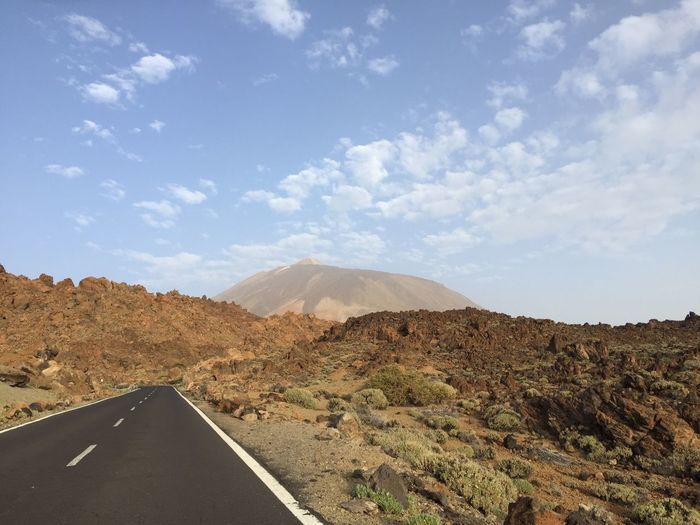 Teide Landscape Mountain Sky Road Scenics Transportation Tranquil Scene Tranquility Nature Day No People Beauty In Nature Cloud - Sky Outdoors