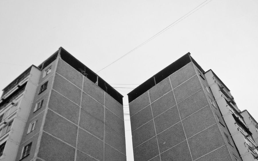 Building Exterior Architecture No People Built Structure Low Angle View Sky Day Wb Minimalistic