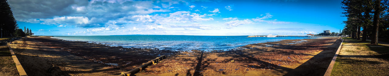 The OO Mission Panorama Days Out Photography Feel The Journey Nice View Peaceful River EyeEm Best Shots Water Reflections Landscape EyeEmBestPics EyeEm Best Edits Eye4photography  Eyeemphotography EyeEm Gallery Tranquility Panoramic Photography Landscape_Collection Ocean Water_collection Redcliffeseaside Redcliffe Ocean View Waterfront