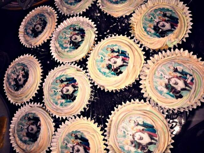 Frozen Cup Cakes My Daughter ♥ My Baking