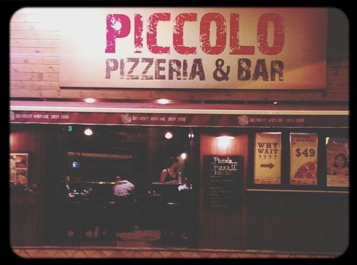 Carbonara and Bianca White Pizza! Yummmm.