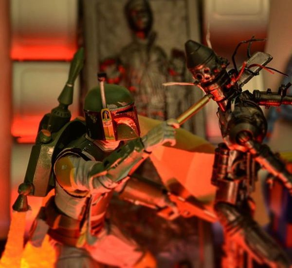 """Solo is MINE."" While delivering the frozen prize to Jabba, Boba Fett encounters--and defeats--IG-88, the mechanical assassin hoping to collect on the same bounty... . Bobafett Ig88 Fett Expandeduniverse Starwarsblackseries Starwarstheblackseries Starwarstoys Toyphotography Toygroup_alliance Starwarstoycrew Toyartistry Toyartistry_elite Actionfigurephotography  Toystagram Starwarsphotography Toyphoto Toysaremydrug Toycrewbuddies Starwars Starwarsblackseries6inch Hasbro Jedi ACBA Iwo Articulatedcomicbookart acbaglobal ata_dreadnoughts"