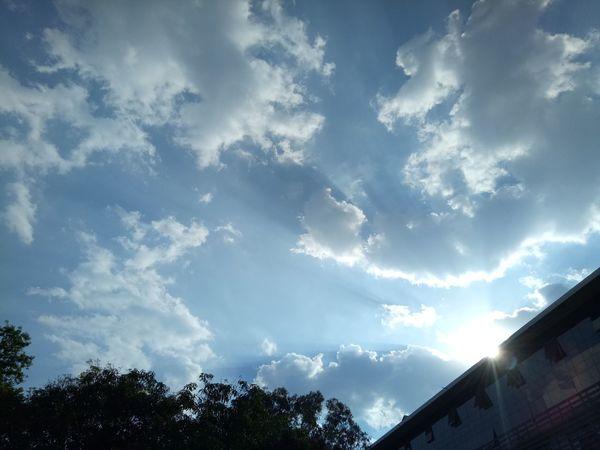 The ray of sunshine. Sunshine Cloud - Sky Sky No People Day Outdoors
