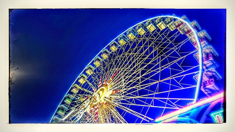 Foire De Nancy Attractive Grande Roue Light Night Shooting