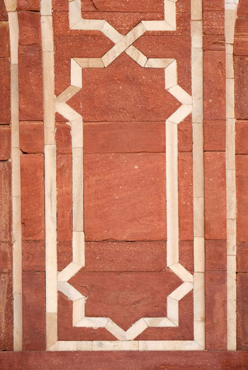 Architecture detail inside the Humayun's Tomb, built by Hamida Banu Begun in 1565-72, Delhi, India ASIA Delhi Empire Humayun India Persian Unesco Architecture Art And Craft Design Emperor Grave Heritage Historic Islam Mausoleum Moghul Mogul Mughal Old Palace Pattern Stone Tomb