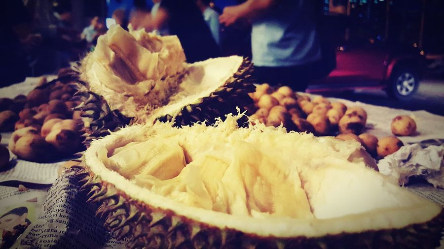 Fruit Durian Fruit King Of Fruits Fruit In Asia Close-up Ready-to-eat Yummy ♥ Delicious Spiky Fresh Golden Color Fruits Tropical Fruits